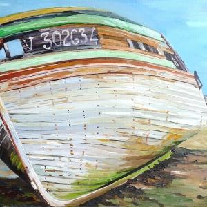 épave bateau - bretagne - plage